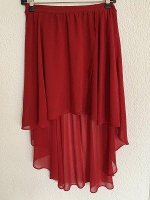 Forever 21 Falda asimétrica rojo oscuro