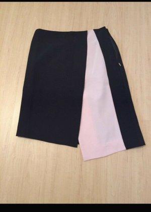 Mango Falda asimétrica negro-rosa