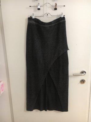 devided Asymmetry Skirt dark grey-silver-colored