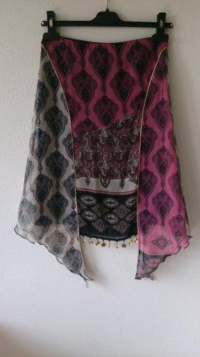 Kookai Asymmetry Skirt black-pink polyester