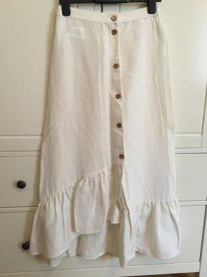 Mango Linen Skirt multicolored