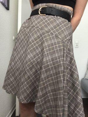 Vintage Asymmetrische rok veelkleurig