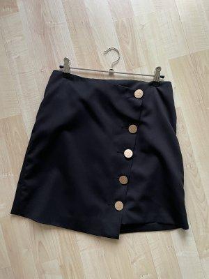 Asos Asymetryczna spódniczka czarny-złoto