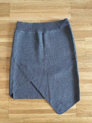 Jupe tricotée gris-gris clair