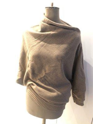 Asymmetrischer Wollpullover, size 0, Beige