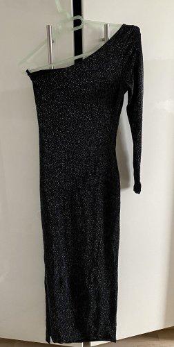 Sukienka na jedno ramię czarny-srebrny