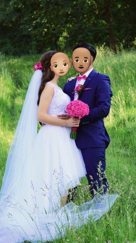 Selbst genäht Abito da sposa bianco Pizzo
