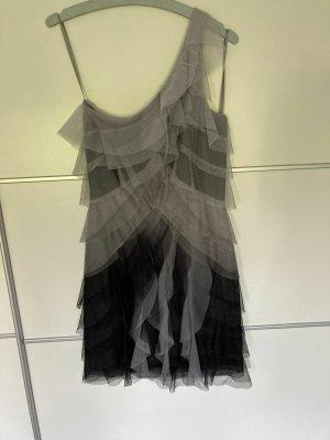 BCBG Sukienka z falbanami Wielokolorowy