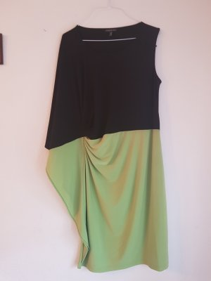 Apart One Shoulder Dress black-neon green