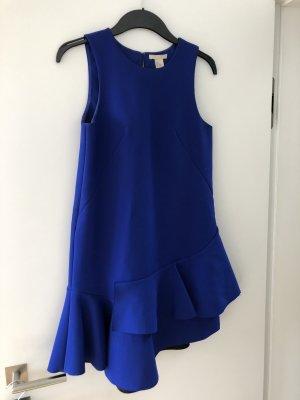 H&M Premium Peplum Dress blue-neon blue