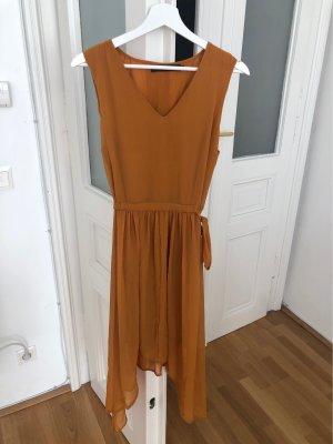 Vero Moda Szyfonowa sukienka jasny pomarańczowy-złotopomarańczowy