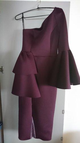 Asos Peplum Dress brown violet