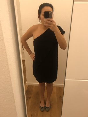 Zara One Shoulder Dress black