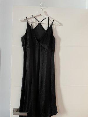 Zara Basic Robe bustier noir polyester