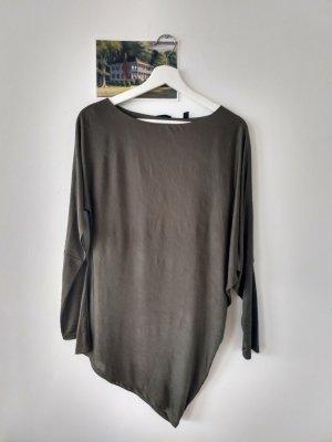 Esprit Camisa con cuello caído gris verdoso-verde oliva