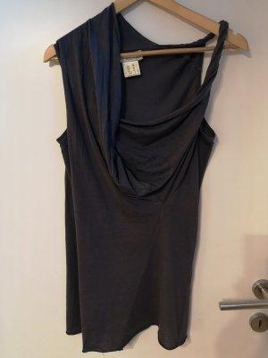 Alysi Maglia con scollo a cappuccio grigio scuro