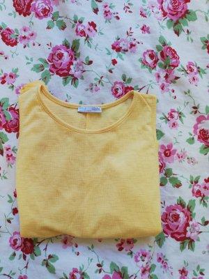 Zara Frill Top pale yellow
