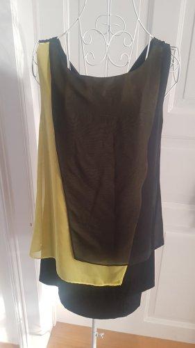 Mekstone Camisa tipo túnica negro-amarillo