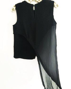 asymmetrisches top • vintage • japan fashion • schwarz • classy