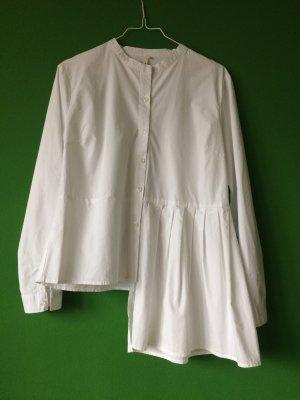 Asymmetrisches Weisses Baumwollhemd Gr. M