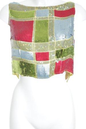 Atelier Blachnik Strappy Top striped pattern glittery