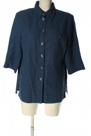 Atelier Creation Short Sleeved Blouse blue flecked casual look
