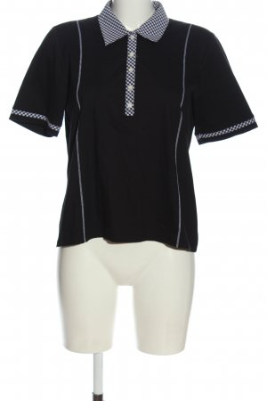 Atelier Creation Polo Shirt black-white check pattern casual look