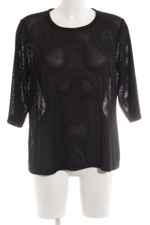 Atelier Creation Rundhalspullover schwarz extravaganter Stil