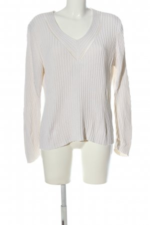Atelier Creation V-Neck Sweater natural white casual look
