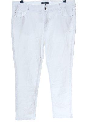 Atelier Gardeur Pantalon 7/8 blanc style décontracté