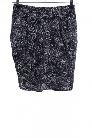 Atelier Gardeur Kokerrok zwart-wit volledige print elegant