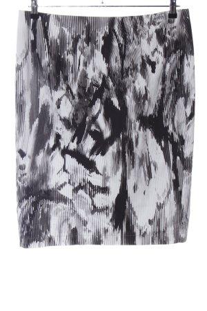 Atelier Gardeur Kokerrok lichtgrijs-zwart abstract patroon elegant
