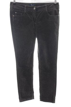 Atelier Gardeur Pantalon en velours côtelé noir style décontracté
