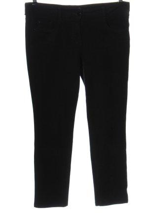 Atelier Gardeur Pantalone di velluto a coste nero motivo a righe stile casual