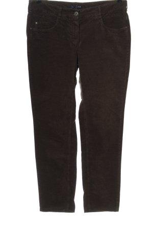 Atelier Gardeur Pantalone di velluto a coste marrone stile casual