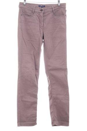 Atelier Gardeur Pantalon cinq poches mauve style décontracté