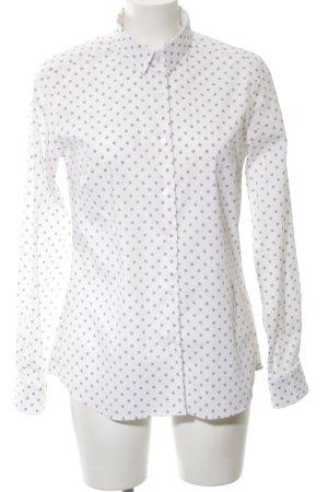 Atelier Gardeur Blouse-chemisier blanc-noir motif de tache style d'affaires
