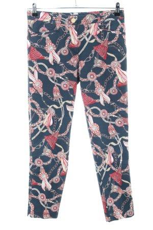 Atelier Gardeur Hoge taille broek abstract patroon casual uitstraling