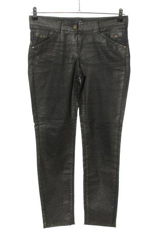 Atelier Gardeur Pantalon taille haute noir style décontracté