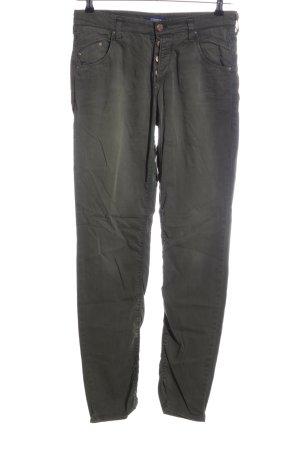 Atelier Gardeur Pantalon taille haute kaki style décontracté