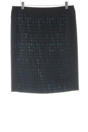 Atelier Gardeur Jupe taille haute noir-gris ardoise élégant