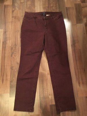 Atelier Gardeur Slim jeans roodbruin-bordeaux