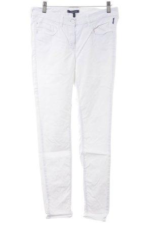 Atelier Gardeur Pantalon cigarette blanc style décontracté