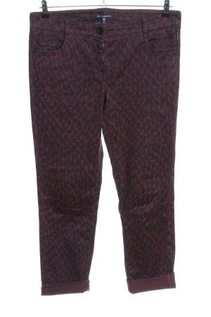 Atelier Gardeur Skinny Jeans black-brown allover print casual look