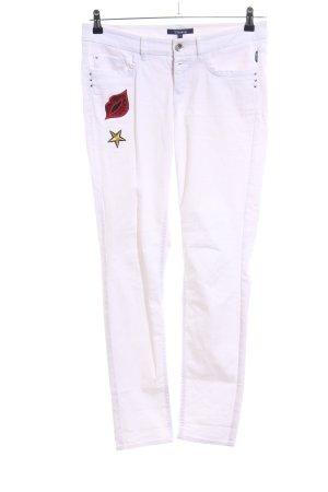 Atelier Gardeur Jeans slim blanc style décontracté