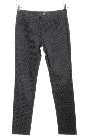 Atelier Gardeur Pantalon en jersey noir-gris clair imprimé allover