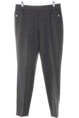 Atelier Gardeur Pantalon en jersey gris clair motif rayé style d'affaires
