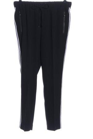 Atelier Gardeur Pantalon en jersey noir-blanc motif rayé style décontracté