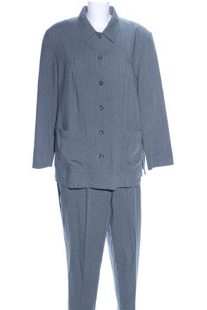 Atelier Goldner Schnitt Tailleur-pantalon bleu Motif de tissage