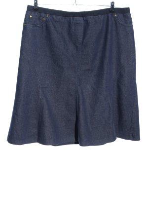 Atelier Goldner Schnitt Gonna di jeans blu puntinato stile casual